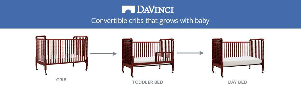 da vinci baby crib jenny 3 in 1 convertible with toddler bed