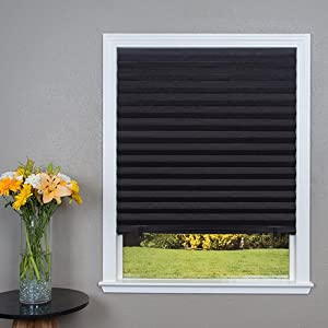 Original Blackout Pleated Paper Shade Black 36 X 72 6 Pack
