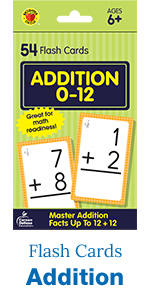 addition flash cards, 54 count