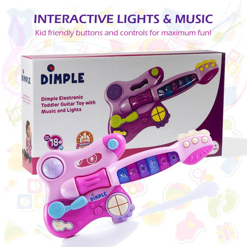 dimple toy electric guitar with interactive buttons levers modes sounds and. Black Bedroom Furniture Sets. Home Design Ideas