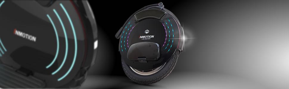 InMotion V10 gyroroue eléctrica Unisex, Negro