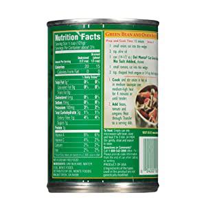 Back Nutritional Information
