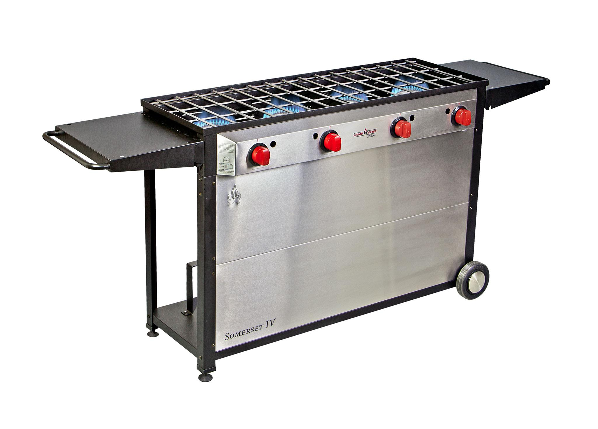 Amazon.com : Camp Chef Somerset 4- Burner BBQ Cart, Catering, Family ...