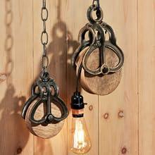 Design Toscano Roue Poulie Vintage de Ferme Décor Industriel, Moyen 17.75 cm, fonte et bois, noir