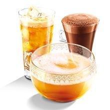 chocolates, tés y bebidas frías