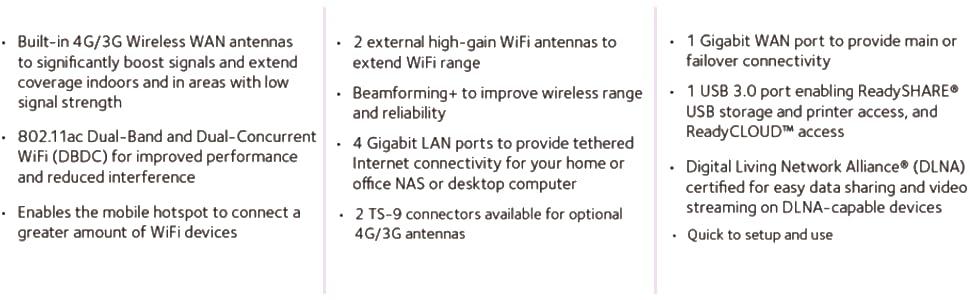 Netgear DC112A-100NAS AirCard 4G LTE Signal Boosting Smart Cradle Router