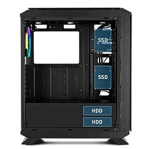 Nox Hummer TGF - NXHUMMERTGF - Caja PC, RGB, Color Negro: Nox ...