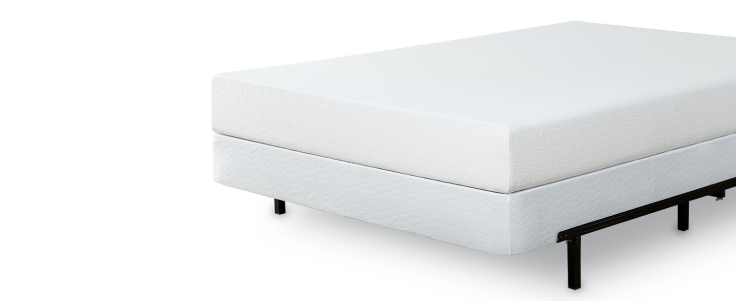 boxspring with frame and mattress