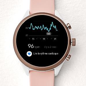 Suivi de rythme cardiaque. Cette montre connectée ...