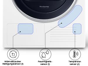 Samsung dv91m8204aw eg wärmepumpentrockner 60 cm höhe digital