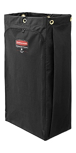 laundry wast bag trash can cleaning cart