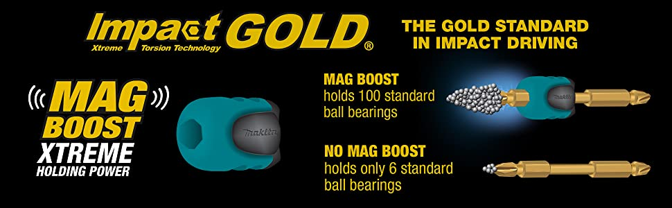 impact gold xtreme torison technology mag boost holding power ball bearings magnetic magnet