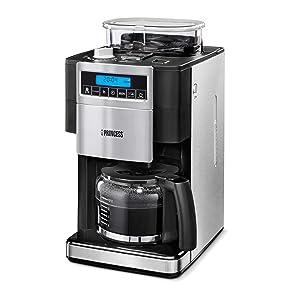 Princess 249402 - Cafetera con molinillo de café, panel de control ...