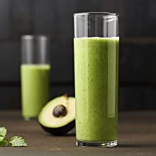 Green Smoothie Drink with Avocado