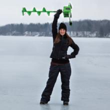 lightweight ice auger, ice fishing auger