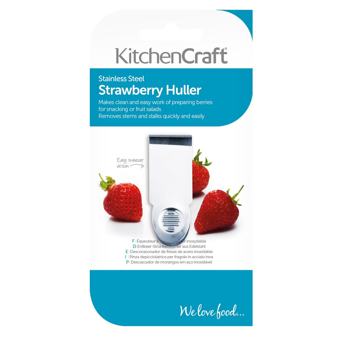 KitchenCraft Stainless Steel Strawberry Huller, 6.5 cm (2.5 ...