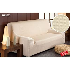 Martina Home Tunez - Funda elástica para sofá, Gris, 2 Plazas (120-190 cm)