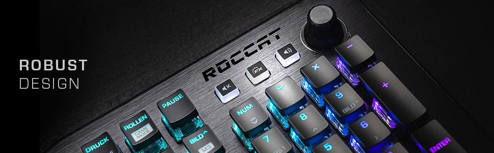 ROCCAT Vulcan 121 AIMO Mechanical RGB Gaming Keyboard with wrist wrest