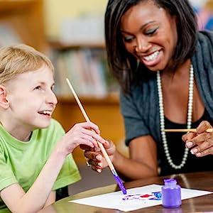 Art Teacher and 1 Student