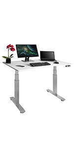 Seville classsics airlift height adjustable electric pneumatic sit stand standing up desk ultrahd