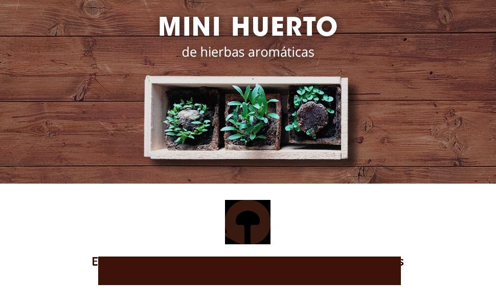 Huerto urbano, hierbas aromáticas, especias, cocina, cultivo, semillas, regalo, original, natural
