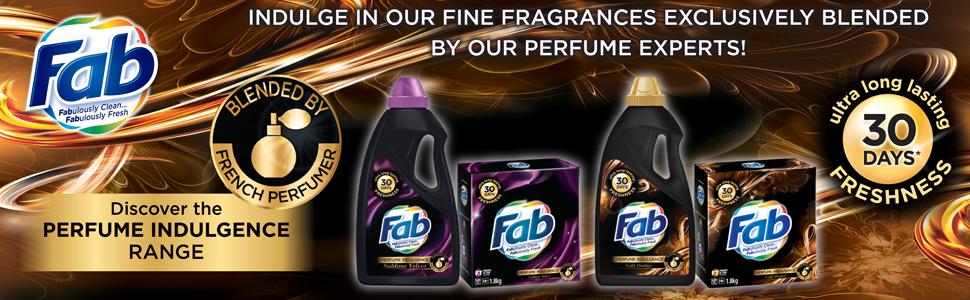 Fab; Voluptuous Glow; Perfume Indulgence; Fragrance temptations; Freshness; 30 days; fine fragrance