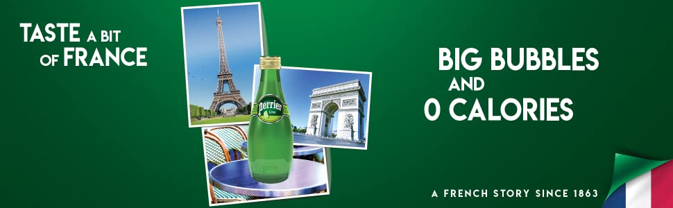Perrier Lime Sparkling Mineral Water France Big Bubbles 0 calories