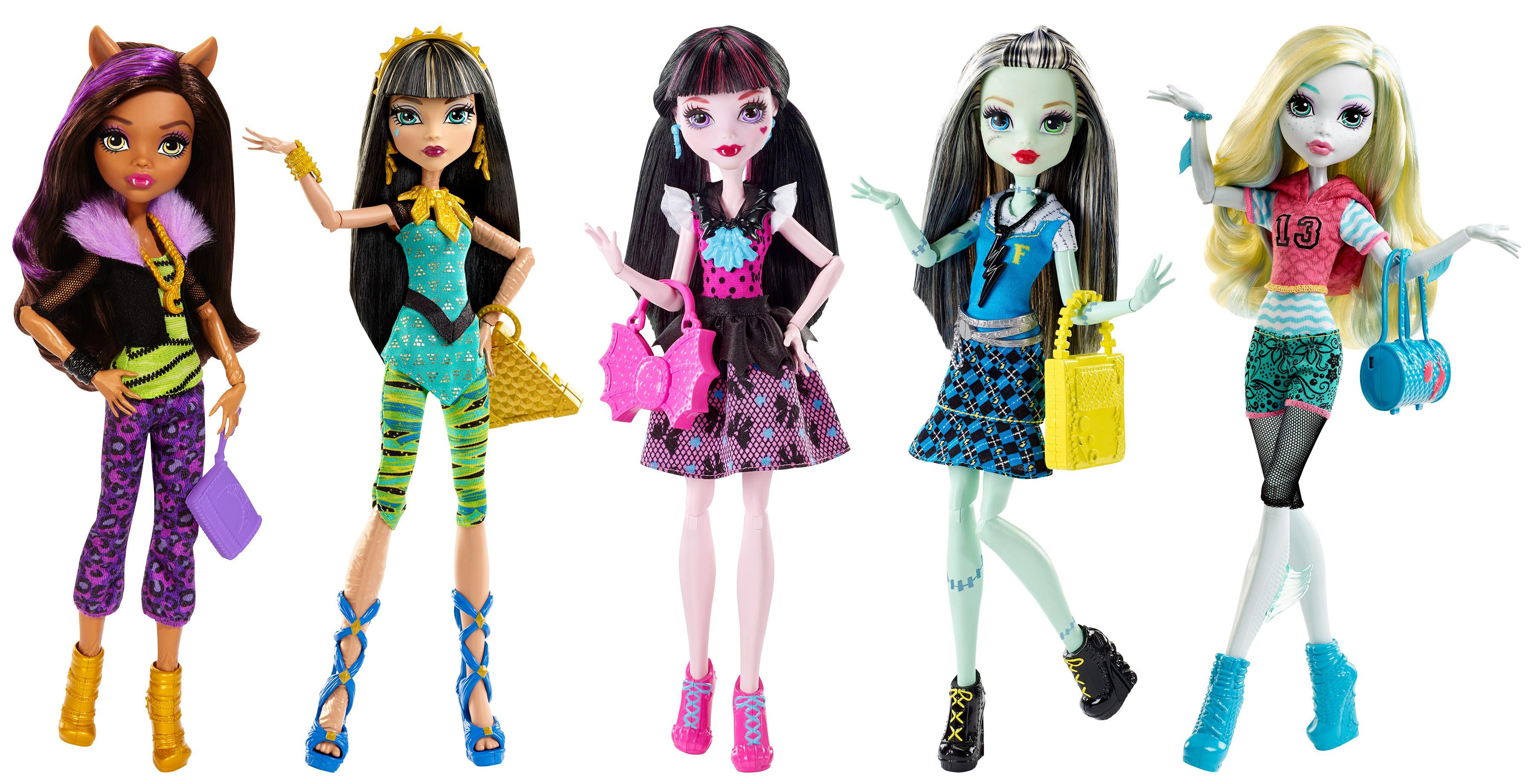 amazon com monster high best ghoulfriends doll collection 5 pack