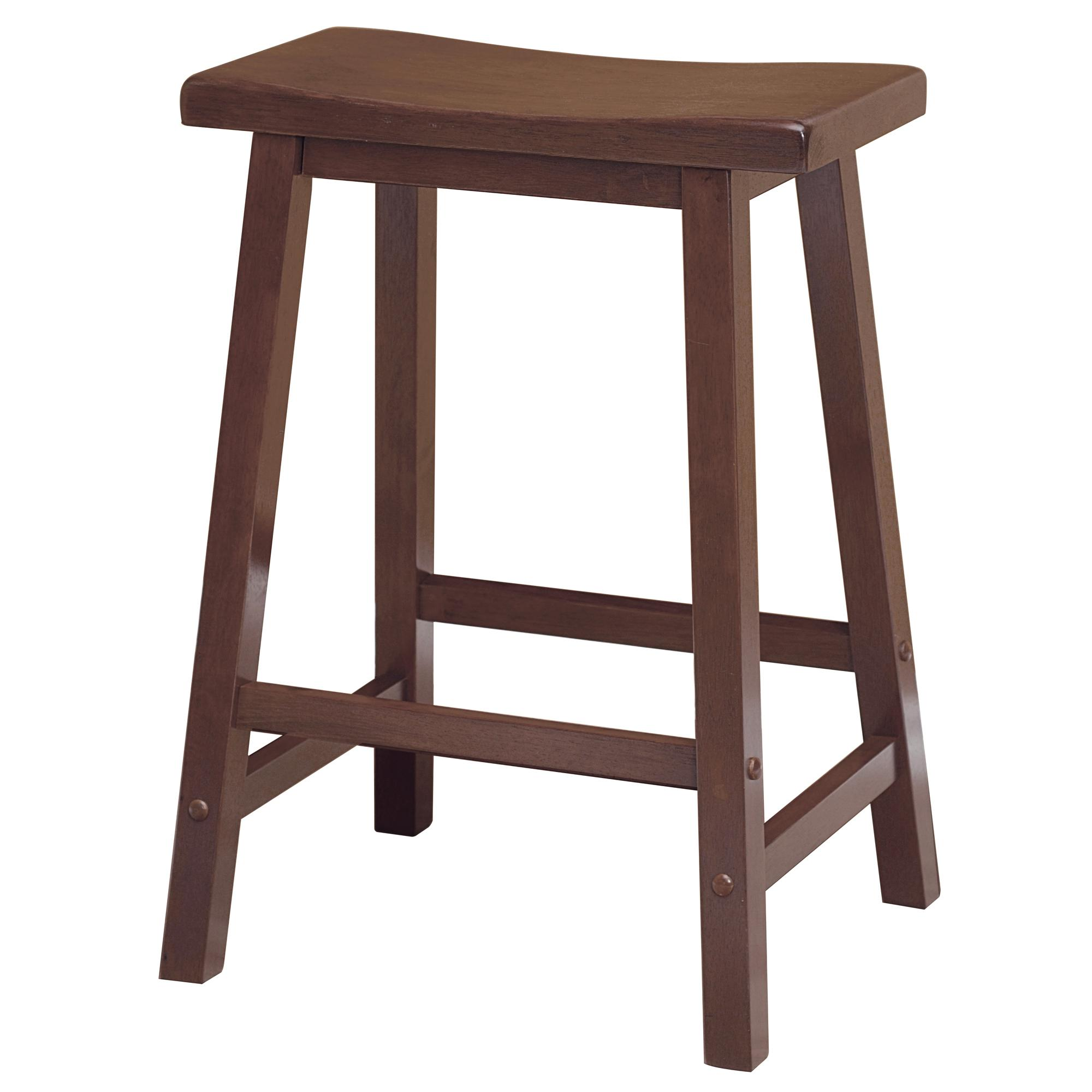 Winsome Saddle Seat 24-Inch Counter Stool Walnut  sc 1 st  Amazon.com : swivel counter stools with backs - islam-shia.org
