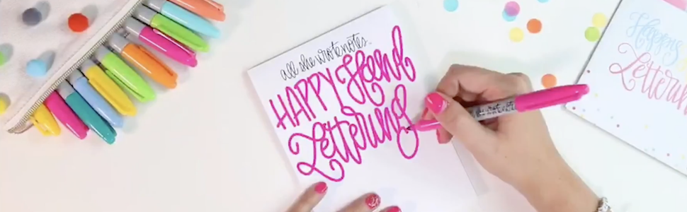 write notes, hand lettering, caligraphy, fun hand writing, letters, cursive letters, Maghon Taylor