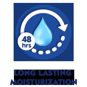 LONG LASTING MOISTURIZATION