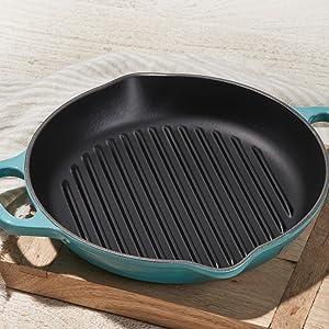 Cast Iron Deep Grill Pan