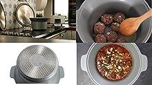 Crock-Pot 5L Duraceramic Csc026X Olla de Cocción Lenta, 5 litros, 0 Decibeles, Acero Inoxidable, Blanco, 5L (4-5 personas)