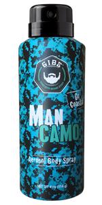 man camo body spray