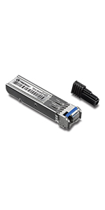 Up to 40 Km 24.9 Miles TEG-MGBS40D3 Lifetime Protection Compatible with Standard SFP Slots TRENDnet SFP Dual Wavelength Single-Mode LC Module 1310//1550,Version v4.0R