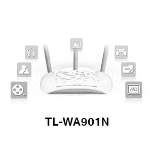 TP-link TPlink TL-WA901N 450Mbps Speed Range Wi-Fi WiFi Wireless Access Point Multi-SSID Antenna