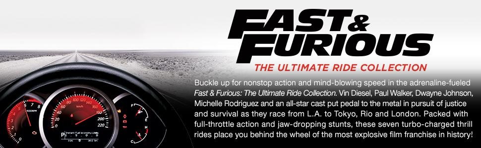 Fast and furious, fast, furious, box set, collection, ultimate ride, movies, car movies, blu-ray