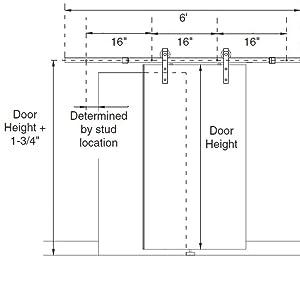 Amazon.com: POWERTEC BDR1001 Sliding Barn Door Hardware ...