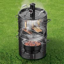 GOURMETmaxx 4 in 1 – Holzkohle Grill-Tonne, Smoker