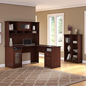 Amazon Com Bush Furniture Cabot L Shaped Computer Desk In