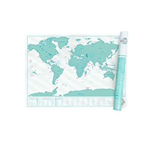 Scratch map chalk edition personalised world map poster with colour the world in pastel with luckies scratch map hello edition map by luckies gumiabroncs Gallery