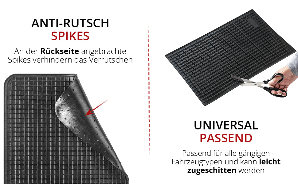 Walser Universale Gummimatte Zuschneidbare Antirutschmatte Rutschfeste Wabenmatte Autogummimatte 50x33 Cm 14999 Auto