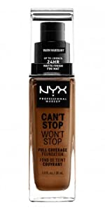 NYX Professional Makeup Can't Stop Won't Stop 24-hour full coverage foundation cosmetics
