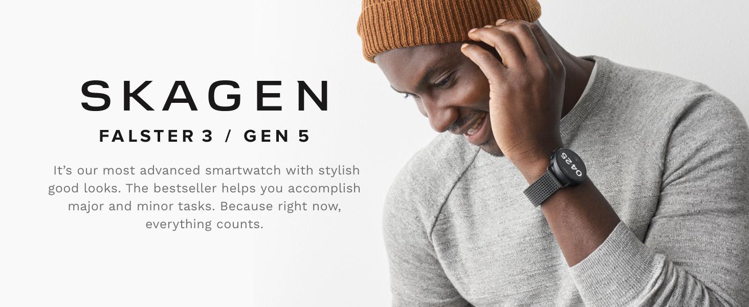 Skagen falster 3 smartwatch Google Wear OS gen 5