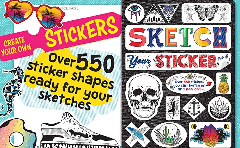 9781620098561 Piccadilly Sketch Your Sticker white