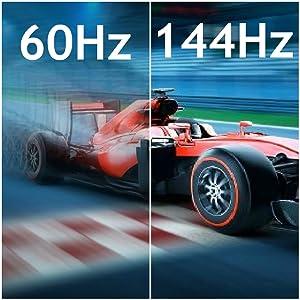 60Hz, 75Hz, 96Hz, 100Hz, 165Hz, 120Hz, 144Hz, Refresh Rate, Native Refresh Rate, 200Hz, 240hz