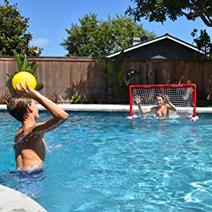 gosports floating water polo goal net pool set summer toys swimming party sports outdoors game kids
