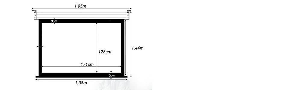 Pantalla de proyeccion Manual Luxscreen 84