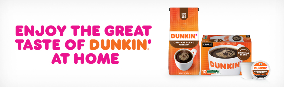 Enjoy the Great Taste of Dunkin At Home