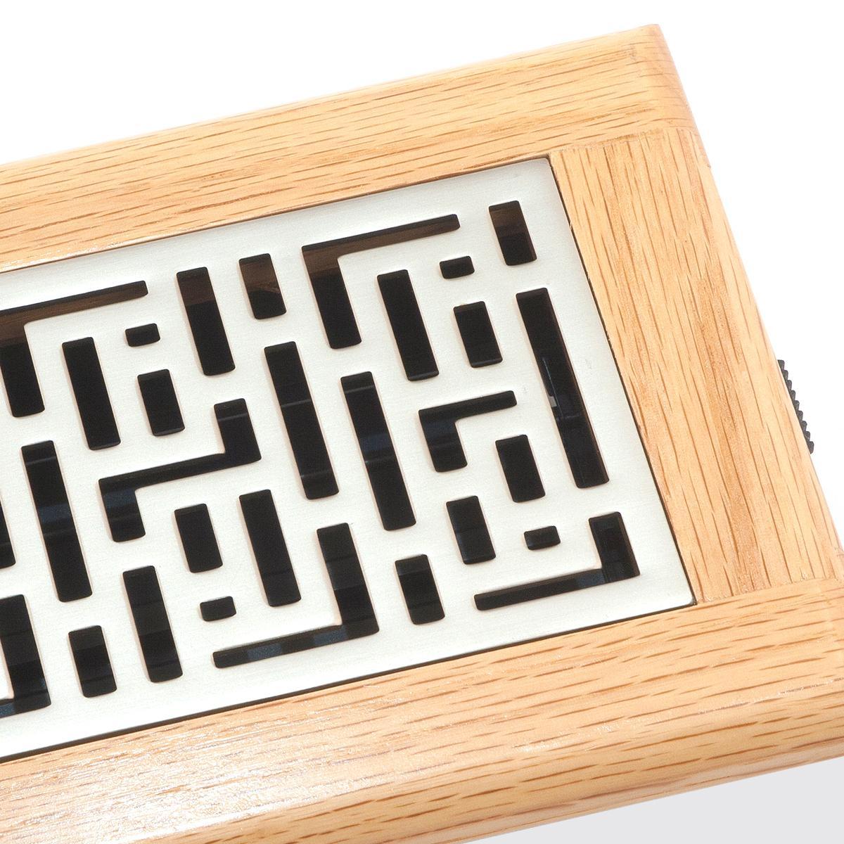 Accord gfosn410 oak frame floor register with forte design for Wood floor register 8 x 10